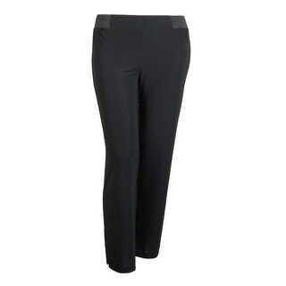 INC International Concepts Women's Solid Jersey Pants - Deep Black
