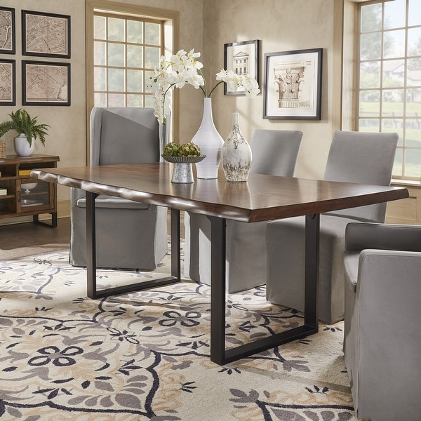 Banyan Live Edge Wood and Metal Sled Base Dining Table by iNSPIRE Q Artisan - N/A. Opens flyout.
