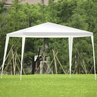 Costway 10 X10 Outdoor Heavy DutyPavilion Cater Events Outdoor Party Wedding Tent White