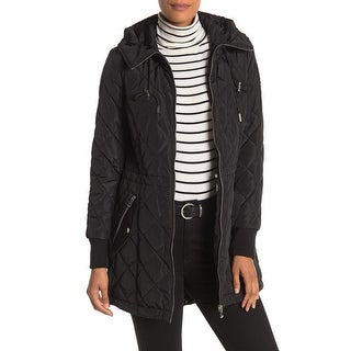 Link to Calvin Klein Women's Jacket Black Size Large L Cinched Waist Quilted Similar Items in Women's Outerwear