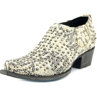 Lane Boots Loryder Western Bootie Women Square Toe Synthetic Multi Color Bootie