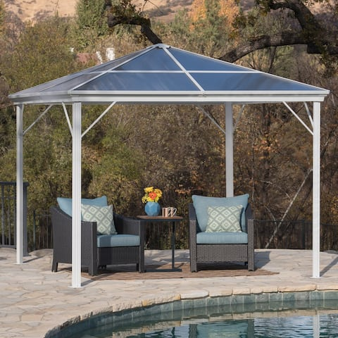 Bailey Outdoor 10-foot Aluminum Gazebo by Christopher Knight Home