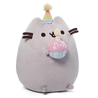 """Pusheen the Cat 10"""" Plush Birthday Pusheen"""