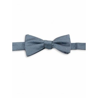 Vince Camuto NEW Blue One Size Herringbone Textured Silk Blend Bow Tie