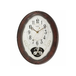 Musical Pendulum Woodgrain Wall Clock