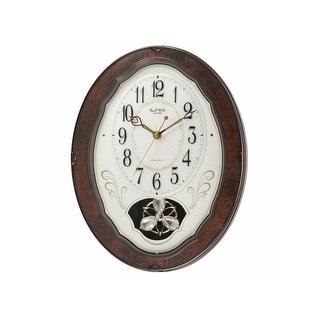 Musical Pendulum Woodgrain Wall Clock