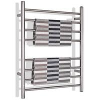 Gymax Towel Warmer Drying Rack Wall Mount Stainless Steel Polished Bathroom Home Decor