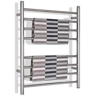 Gymax Towel Warmer Drying Rack Wall Mount Stainless Steel Polished Bathroom Home Decor