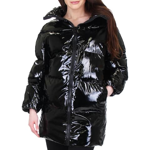 Juicy Couture Black Label Womens Puffer Coat Oversized Down
