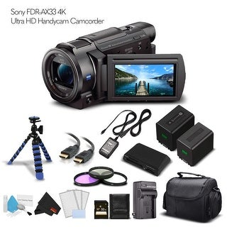 Sony FDR-AX33 4K Ultra HD Handycam Camcorder With Extra Battery, Case, Memory Card and More. - Starter Set