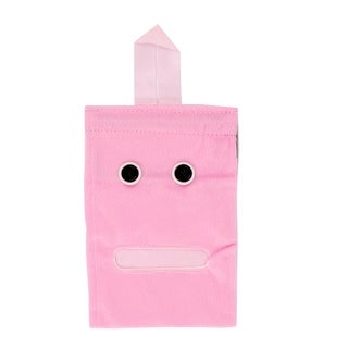 Home Decor Cartoon Style Hanging Roll Paper Tissue Box Cover Bag Holder Pink