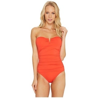 Tommy Bahama - Pearl V-Front Bandeau One-Piece SZ: 14