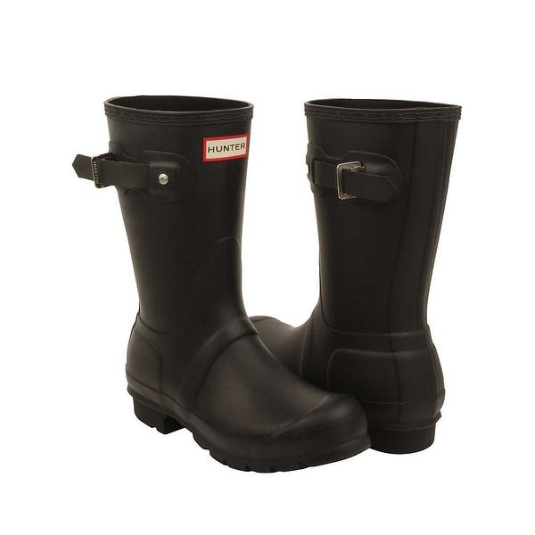 a10cdfc90e3 Shop Hunter Womens Original Short Rain Boots in Black - Free ...