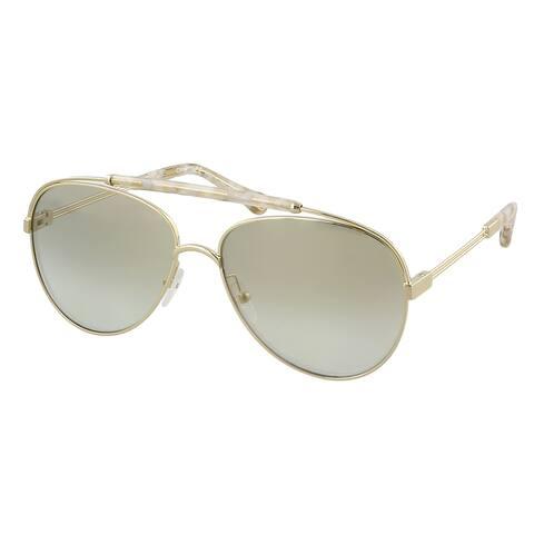 Chloe CE141S 809 Reece Gold/Marble Beige Aviator Sunglasses - 59-15-140