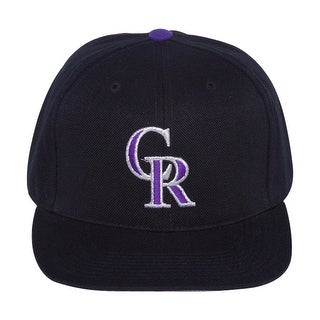 MLB Colorado Rockies Vintage Sports Specialties Fitted Hat - Black Size 7 1/2 - 7 1/2