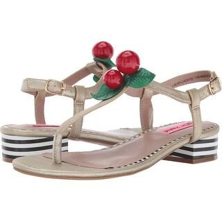 Betsey Johnson Womens Cherry Split Toe Casual T-Strap Sandals