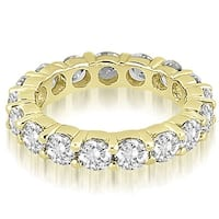 4.80 cttw. 14K Yellow Gold Round Diamond Eternity Ring