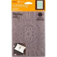 "Ornate Medallion-Cuttlebug 5""X7"" Embossing Folder By Anna Griffin"