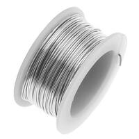 Artistic Wire, Copper Craft Wire 18 Gauge Thick, 4 Yard Spool, Stainless Steel
