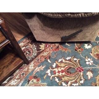 Safavieh Handmade Heritage Traditional Blue/ Brown Wool Area Rug - 9' x 12'