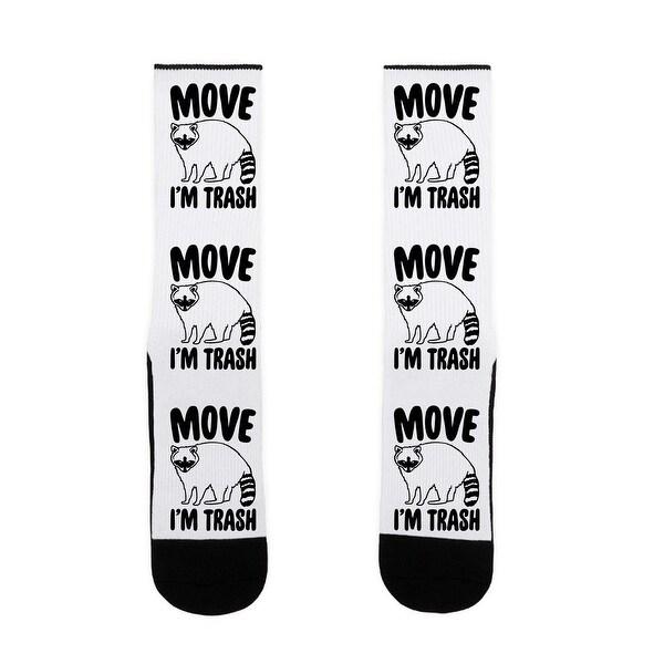 LookHUMAN Move I'm Trash Parody US Size 7-13 Socks