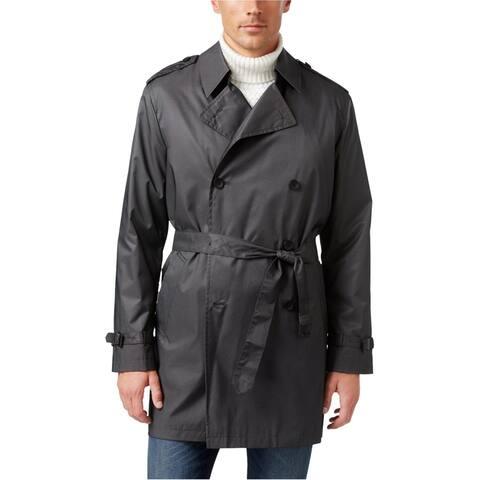 Kenneth Cole Mens Ridge Microdot Raincoat