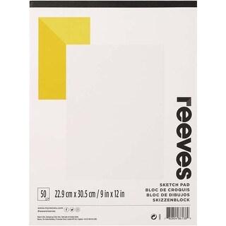 "50 Sheets - Reeves Drawing Paper Pad 9""X12"""