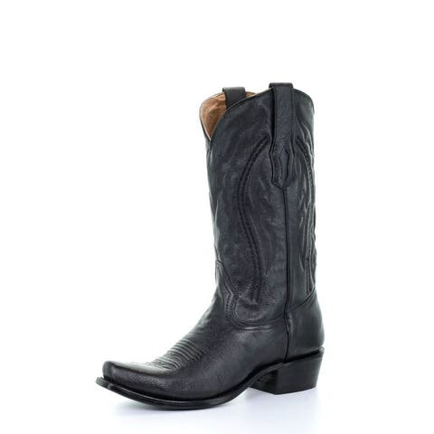 Corral Western Boots Mens Narrow Square Toe Leather Black
