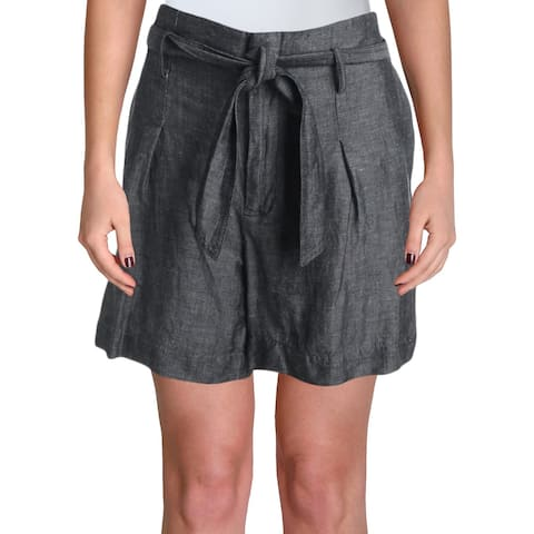 Lauren Ralph Lauren Womens Joziana Shorts Belted Pleated - Black