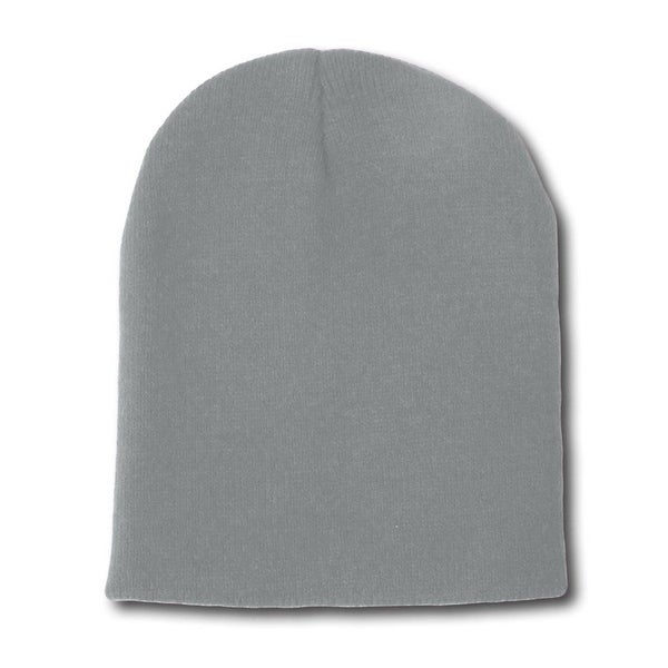 Shop Solid Winter Plain Short Beanies (many colors) -Heather Grey ... 71e9911b92b