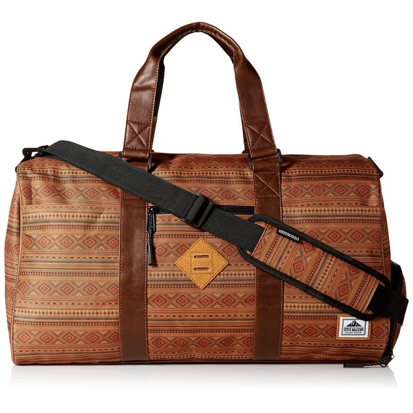 cad87775421c Shop Steve Madden NEW Tobacco Brown Mens One Size Aztec-Print Duffle ...