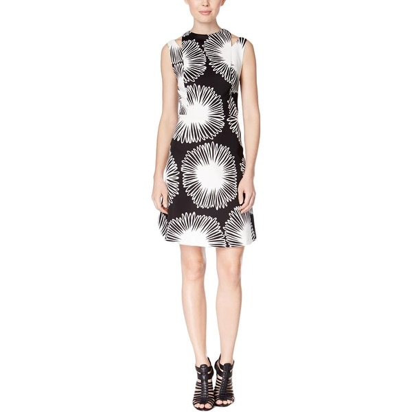Shop Kensie Womens Cocktail Dress Printed V Back Free Shipping On