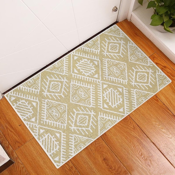 Sussexhome Heavy Duty Ultra Thin Non Slip Washable Cotton Indoor Rug - 2' x 3'. Opens flyout.