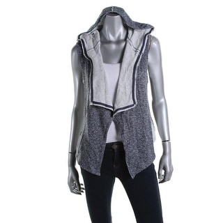 Planet Gold Womens Marled Open Front Hoodie