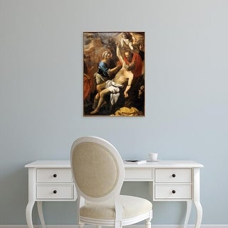 Easy Art Prints Pietro Novelli's 'Martyrdom of Saint Bartolomeo' Premium Canvas Art