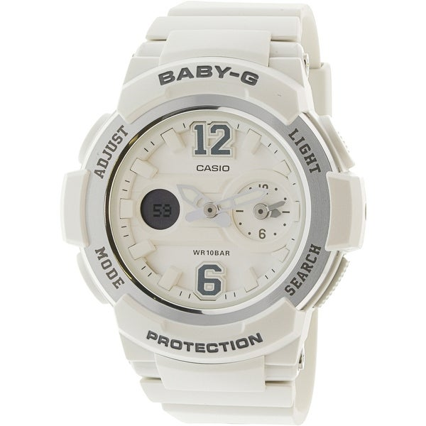 85f1b8f3115 Shop Casio Women s Baby G White Resin Japanese Quartz Diving Watch - Free  Shipping Today - Overstock - 18803943