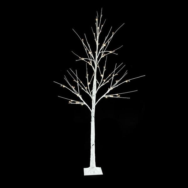 Outdoor White Twig Christmas Tree: Shop 6' Pre-Lit White Christmas Twig Tree Outdoor Yard Art