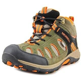 Merrell Chameleon Mid Lace Round Toe Leather Hiking Shoe