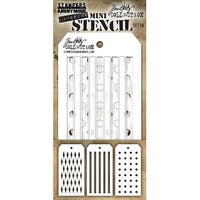 Tim Holtz Mini Layered Stencil Set 3/Pkg-Set #36