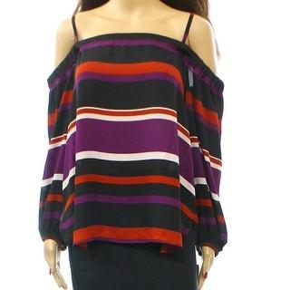 INC NEW Purple Striped Multi-Colored Women's Size Large L Blouse