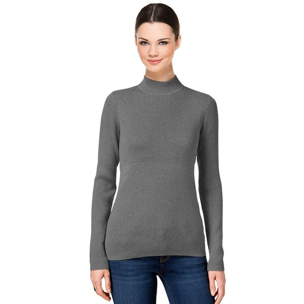 Karen Scott Ribbed Mock Turtleneck Sweater Top - Free Shipping On ...