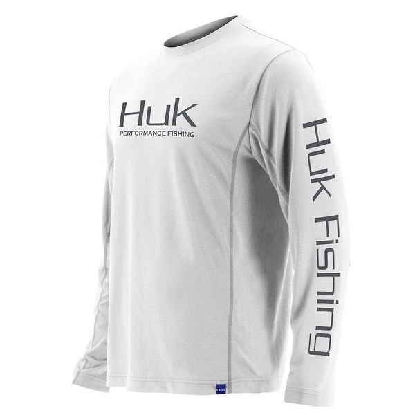 3e1cfa8e5d3 Shop Huk Men s Icon White XXX-Large Solid Long Sleeve Shirt - Free Shipping  On Orders Over  45 - Overstock - 27184462