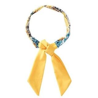 Azul Girls Yellow Blue Paisley Printed Urban Boho Stylish Headband
