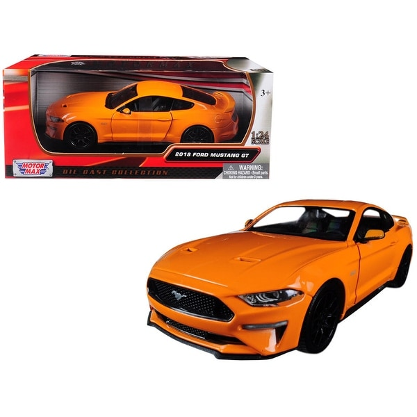 2018 Ford Mustang Gt 5 0 Orange With Black Wheels 1 24 Cast Model Car By Motormax Free Shipping On Orders Over 45 25486786