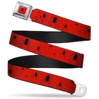 Marvel Universe Dangling Spider Logo Full Color Red Black Dangling Spiders2 Seatbelt Belt