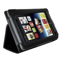 AGPtek Leather Cover Case Stand for Barnes & Noble Nook Tablet Color Black