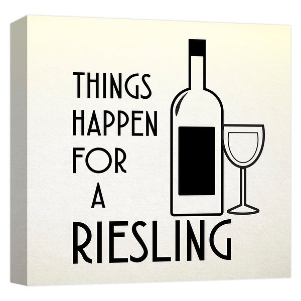 """PTM Images 9-124716 PTM Canvas Collection 12"""" x 12"""" - """"Things Happen For A Riesling"""" Giclee Liquor & Cocktails Art Print on"""