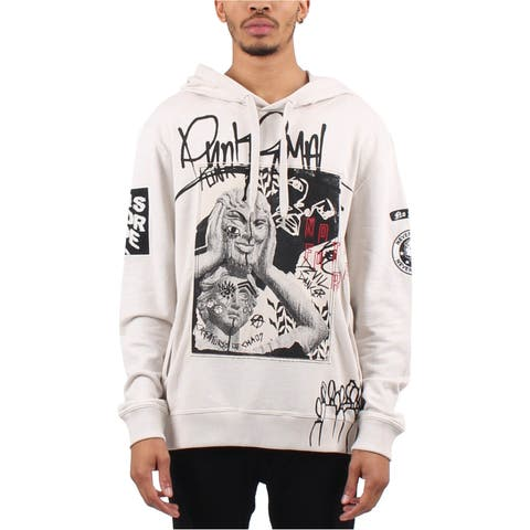 Punk Royal Mens Graphic-Print Hoodie Sweatshirt