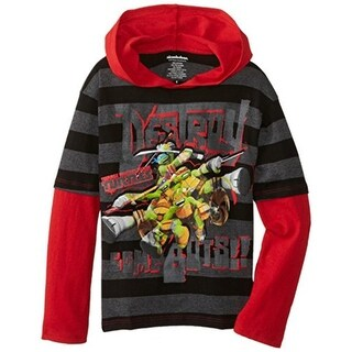 Nickelodeon Boys TMNT Hooded Casual Shirt - 7