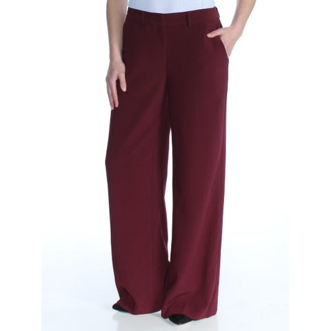 VINCE CAMUTO Womens Maroon Straight leg Wear To Work Pants Size: 0